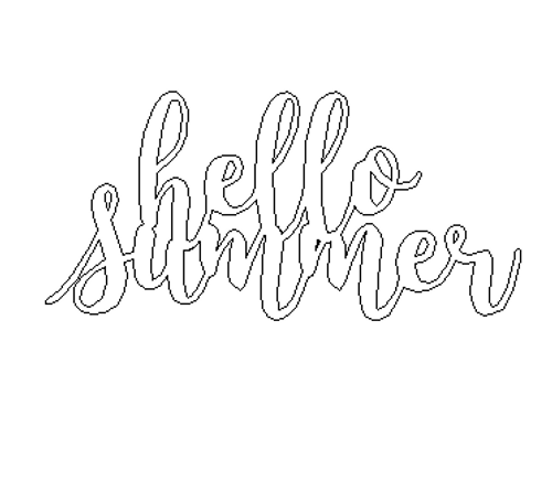 Hello Summer King Basil Connected Phrase Unfinished Word