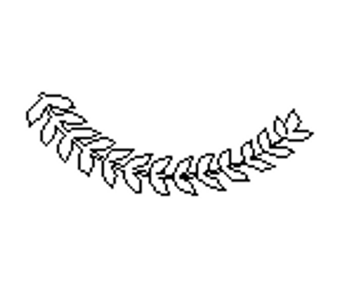 Wreath Leaf Segment, Paintable Shape, Unfinished Cutout, Craft Wood