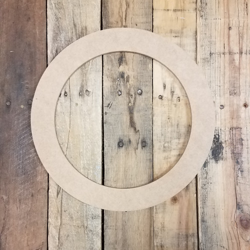Circle Ring Border Unfinished Cutout, Wooden Shape, Paintable Wooden MDF DIY Craft