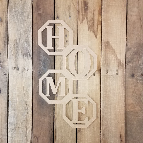 Vertical Home Octagon Rings Unfinished, Wooden Shape, Wooden MDF DIY Craft