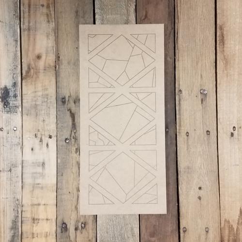 Diamond Design Mosaic Panel, Unfinished Wood Shape