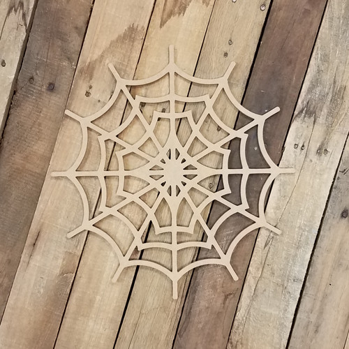 Spiderweb Halloween Craft, Unfinished Wood Shape