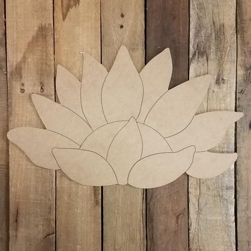 Half Sunflower Craft Cutout, Unfinished Shape, Paint by Line