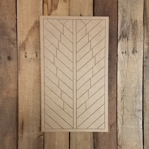 Feather Geometric Art Pattern, Unfinished Shape, Paint By Line