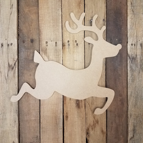 Prancing Christmas Reindeer  Wooden Cutout WS