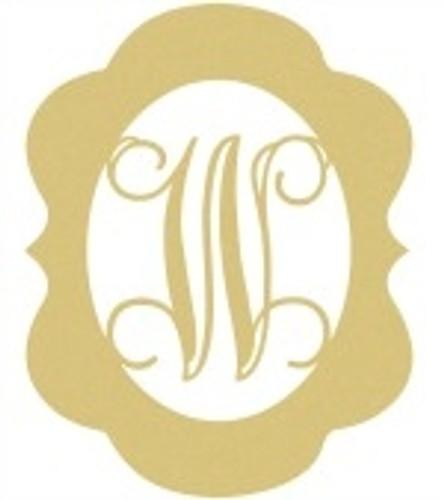 Wooden Monogram Letter Alice Frame Unfinished DIY Craft