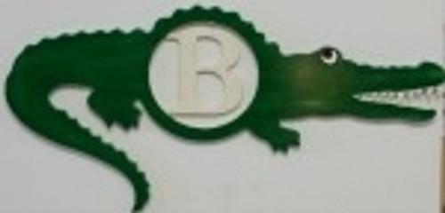 Alligator Frame Letter Insert Wooden Monogram Unfinished  DIY Craft