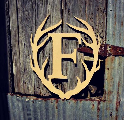Antler Times Framed Letter Wooden  Unfinished  DIY Craft