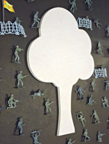 Army Tree Unfinished Cutout, Wooden Shape, Paintable MDF  Craft
