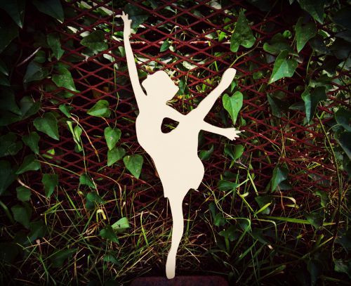 Ballerina 2 Unfinished Cutout, Wooden Shape, Paintable MDF DIY Craft