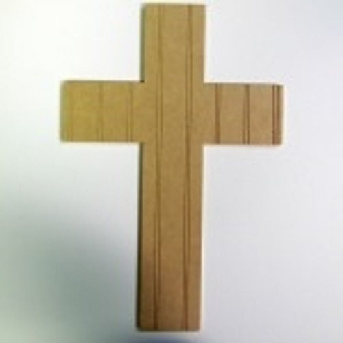 Unfinished Wooden Cross 10 Beadboard  Paintable Wall Hanging