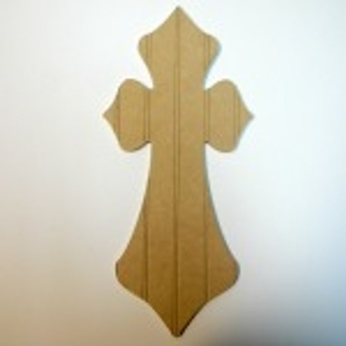 Unfinished Wooden Cross 21 Beadboard  Paintable Wall Hanging Stackable