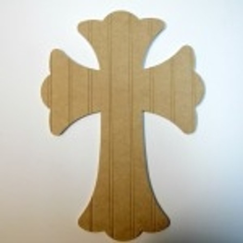 Unfinished Wooden Cross Beadboard Paintable Wall Hanging Stackable