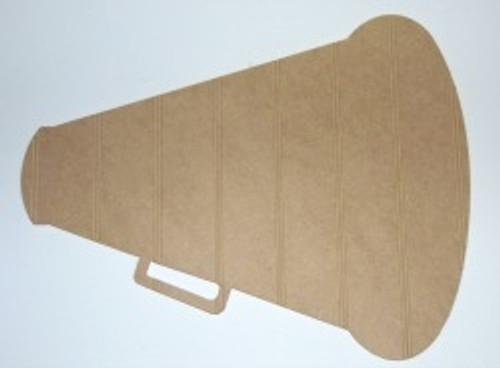 Wood Megaphone Cutout Beadboard Shape Paintable MDF DIY Craft