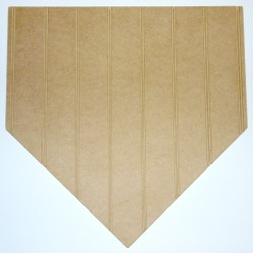 Wooden Homeplate Cutout Beadboard Shape Paintable MDF DIY Craft