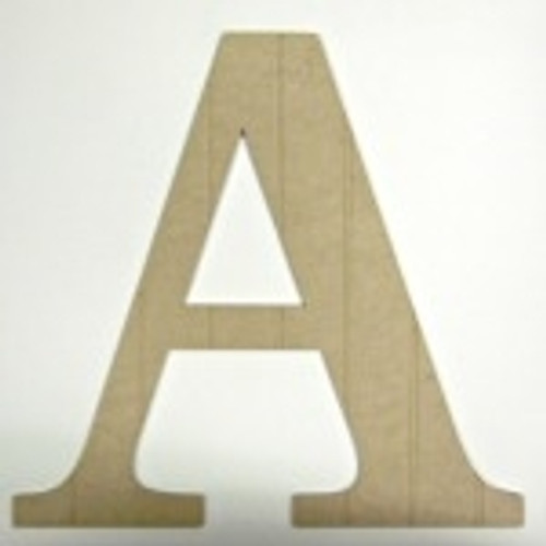 Wooden cutout letter (A) make great small letters for crafts.