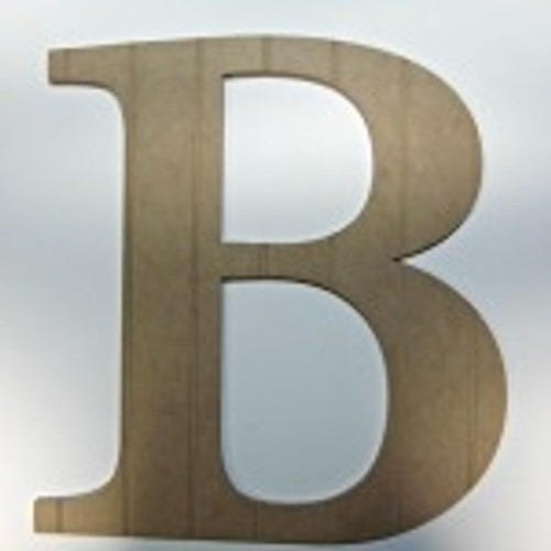 Wooden alphabets letters (B) are cheap wall letters.