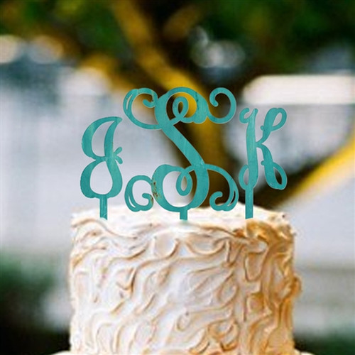 Cake Topper Monogram Wooden Unfinished Lowercase Alphabet Letter