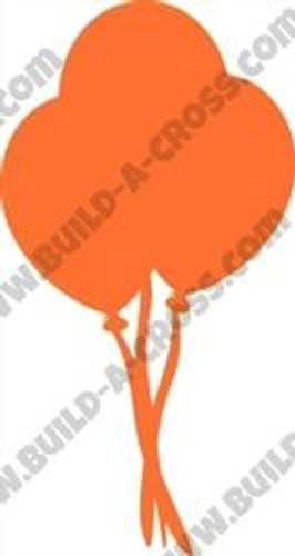 Circus Balloon 3 Unfinished Cutout, Wooden Shape,  Paintable MDF DIY