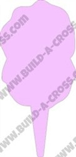 Cotton Candy Unfinished Cutout, Wooden Shape,  Paintable MDF DIY Craft