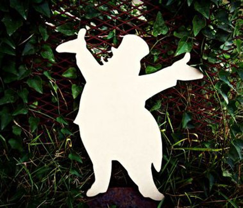 Circus Ringleader Unfinished Cutout, Wooden Shape,  Paintable MDF DIY Craft