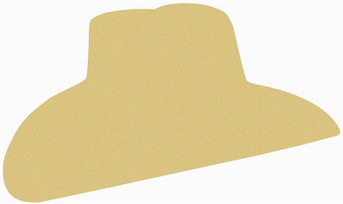 Cowboy Hat 2 Unfinished Cutout, Wooden Shape, Paintable  MDF DIY Craft