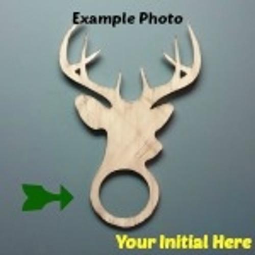 Deer Head Frame Letter Insert Wooden Monogram Unfinished DIY Craft