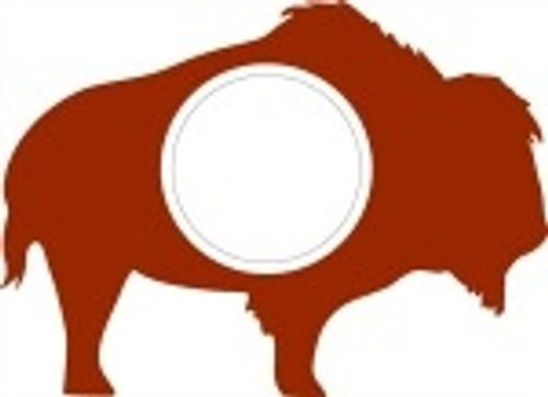 Buffalo Frame Letter Insert Wooden Monogram Unfinished DIY Craft