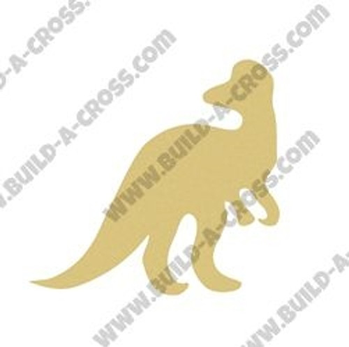 Dinosaur Raptor Unfinished Cutout, Wooden Shape, Paintable Wooden MDF