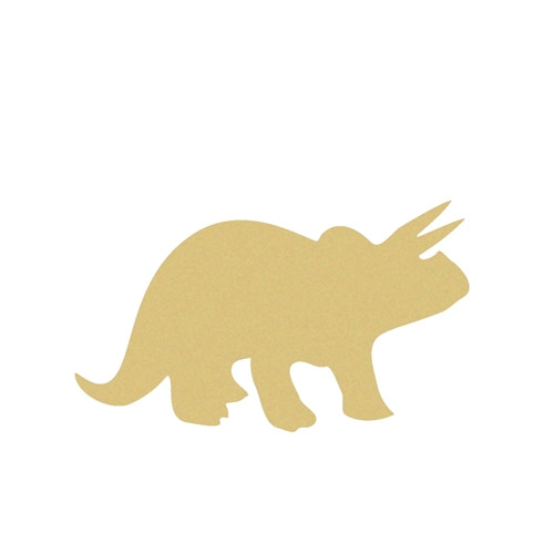 Dinosaur Triceratops(1) Unfinished Cutout, Wooden Shape, MDF