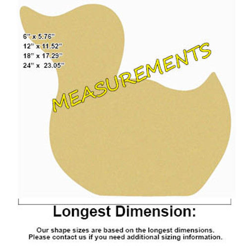 Duck Unfinished Cutout, Wooden Shape, Paintable Wooden MDF DIY Craft