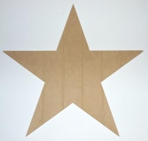 Wooden Star Cutout Beadboard Shape Paintable MDF DIY Craft