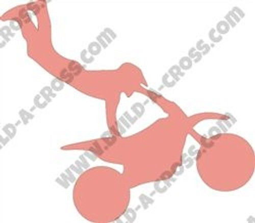 Dirtbike Handstand Unfinished Cutout, Wooden Shape, Paintable MDF