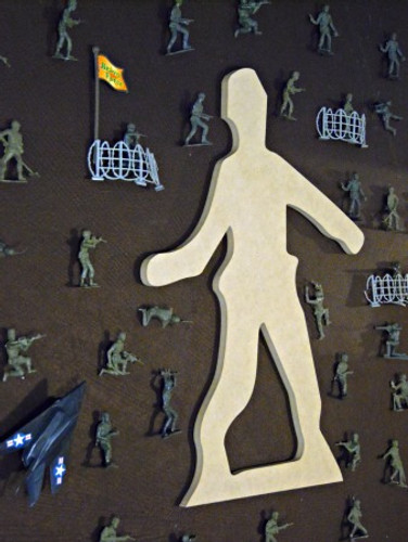 Grenade Man Unfinished Cutout, Wooden Shape, Paintable MDF  Craft