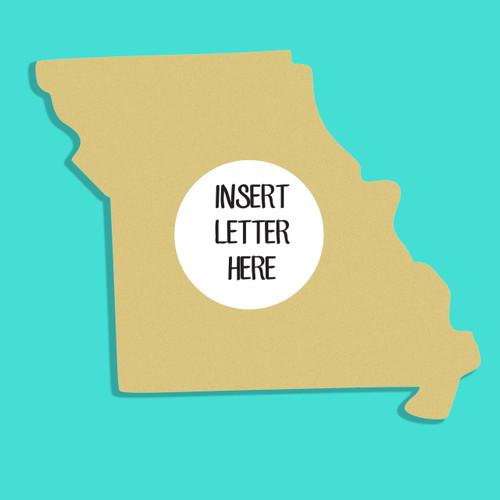 Missouri Frame Letter Insert Wooden Monogram Unfinished DIY Craft