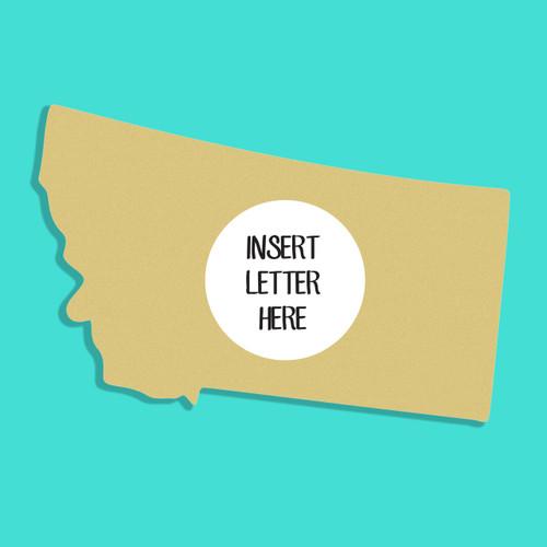 Montana Frame Letter Insert Wooden Monogram - Unfinished  DIY Craft
