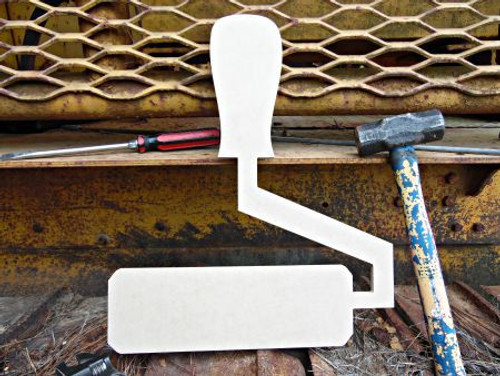 Paint Roller Unfinished Cutout, Wooden Shape, MDF DIY Craft