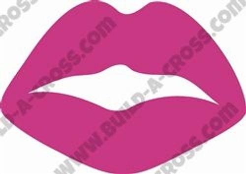Paris Lips Unfinished Cutout, Wooden Shape, Paintable Wooden MDF DIY