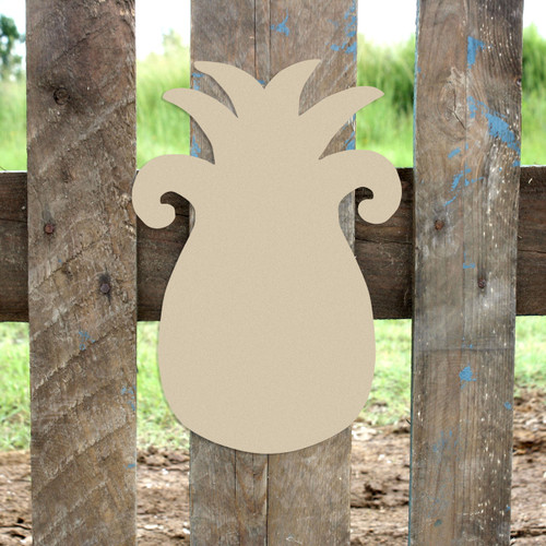 Pineapple Unfinished Cutout, Wooden Shape, Paintable Wooden MDF