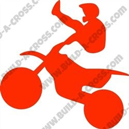 Kicking Dirtbike Rider Unfinished Cutout, Wooden Shape, Paintable MDF