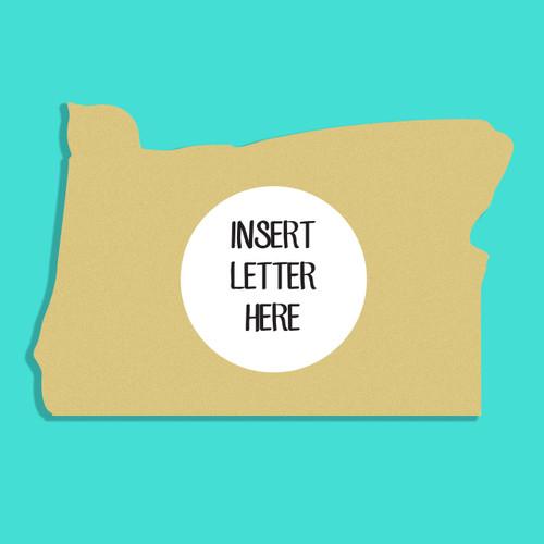 Oregon Frame Letter Insert Wooden Monogram Unfinished DIY Craft