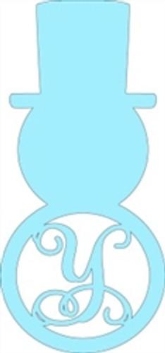 Snowman Monogram Letter, Snowman Frame Wooden - Unfinished  DIY Craft