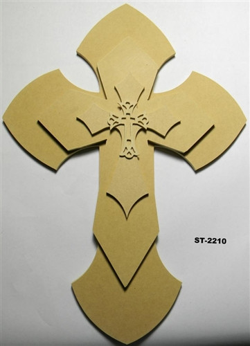 Unfinished Wooden Stacked Kit 10 Layered Crosses 22'' Sets Paintable Craft
