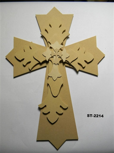 Unfinished Wooden Stacked Kit 13 Layered Crosses 22'' Sets Paintable Craft