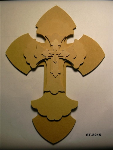 Unfinished Wooden Stacked Kit 15 Layered Crosses 22'' Sets Paintable Craft