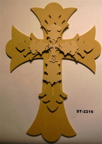 Unfinished Wooden Stacked Kit 16 Layered Crosses 22'' Sets Paintable Craft