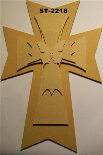 Unfinished Wooden Stacked Kit 18 Layered Crosses 22'' Sets Paintable