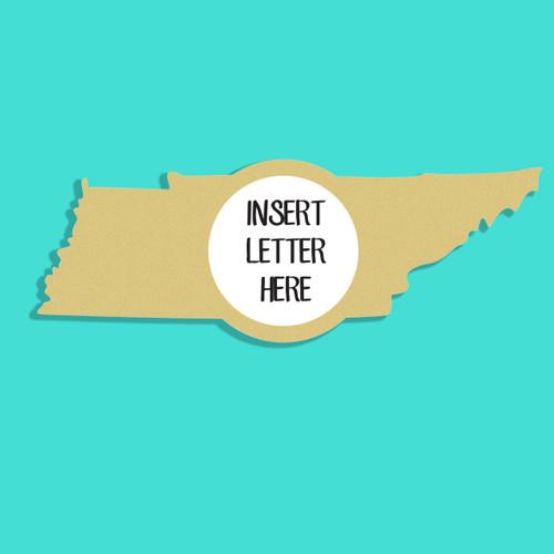 Tennessee Frame Letter Insert Wooden Monogram Unfinished DIY Craft
