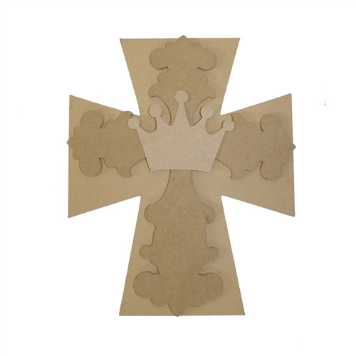 Unfinished Wooden Stacked Kit 2 Layered Crosses 16'' Sets Paintable