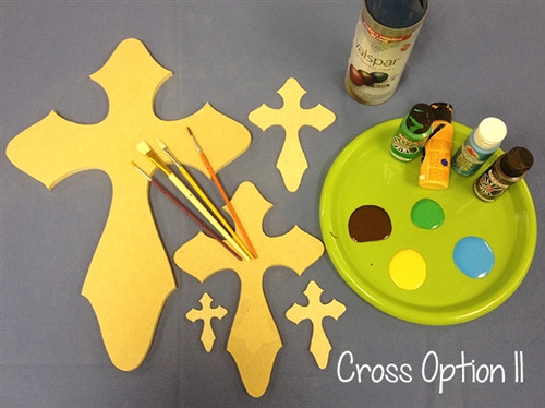 Cross 11 Unfinished Wooden Paintable Wall Hanging Stackable